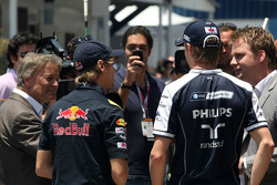 Sebastian Vettel, Red Bull Racing and Nico Hulkenberg, Williams F1 Team