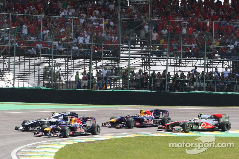 Sebastian Vettel, Red Bull Racing bij de start