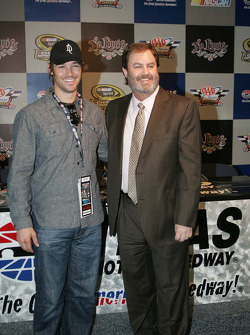 Texas Ranger's pitcher and pace car driver for the AAA Texas 500 C.J. Wilson and Eddie Gossage