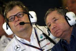 Norbert Haug, Mercedes, jefe de automovilismo, Jean Todt, Presidente de la FIA