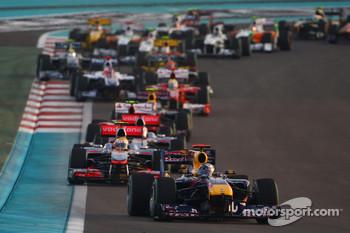 Start of the Abu Dhabi GP in 2010