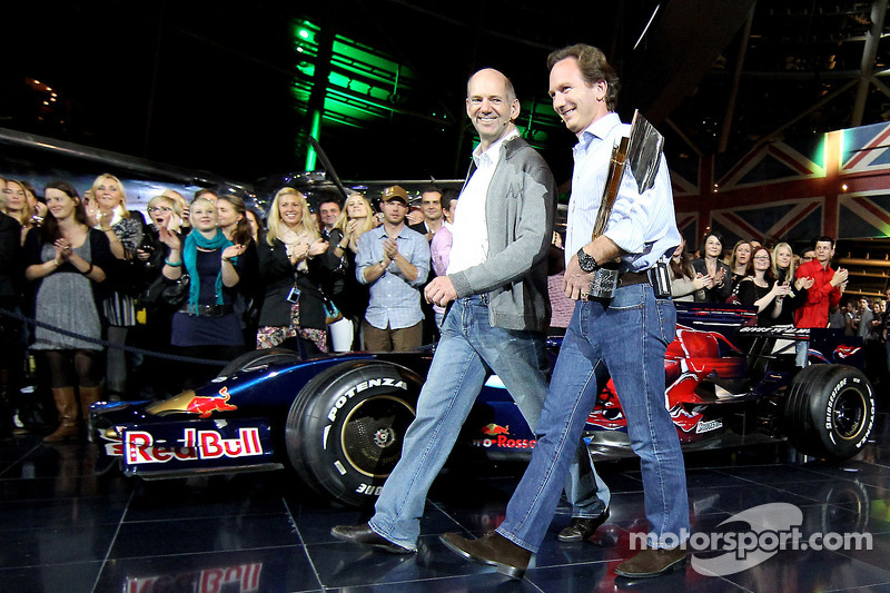 Chief technical officer Adrian Newey en team principal Christian Horner
