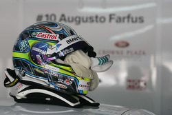 Helmet of Augusto Farfus, BMW Team RBM BMW 320si