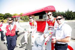 Miguel Molina, Audi Sport Rookie Team Abt, Audi A4 DTM, Martin Tomczyk, Audi Sport Team Abt Audi A4 DTM and Albert Deuring Audi Team Abt Sportline
