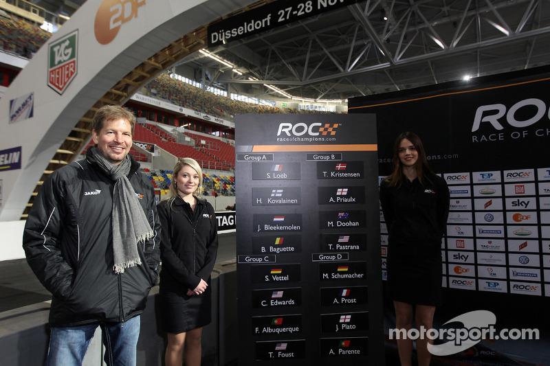 Draw for the race order: ROC organiser Frederik Johnson