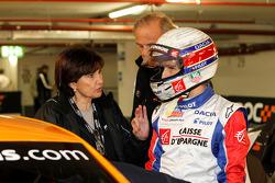 Michèle Mouton and Alain Prost