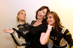 Amanda Wright (Miss Sprint Cup), Rita Rudner (who was performing at Harrah's on Wednesday night), and Paige Duke (Miss Sprint Cup)