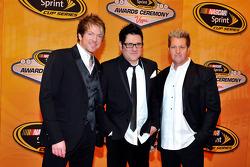 Joe Don Rooney, Jay DeMarcus and Gary LeVox of Rascal Flatts attend the NASCAR Sprint Cup Series awards banquet at the Wynn Las Vegas Hotel