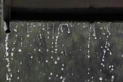 Rain on pitlane