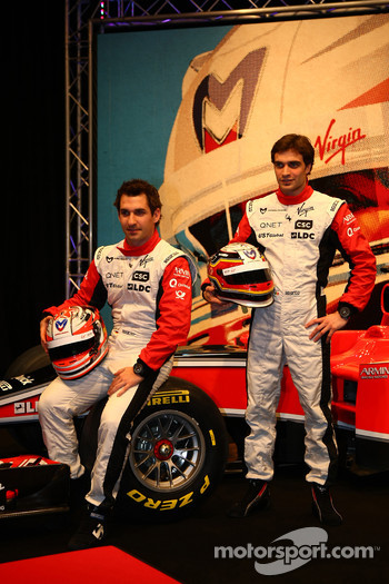 The Marussia Virgin team - Timo Glock and Jerome d'Ambrosio
