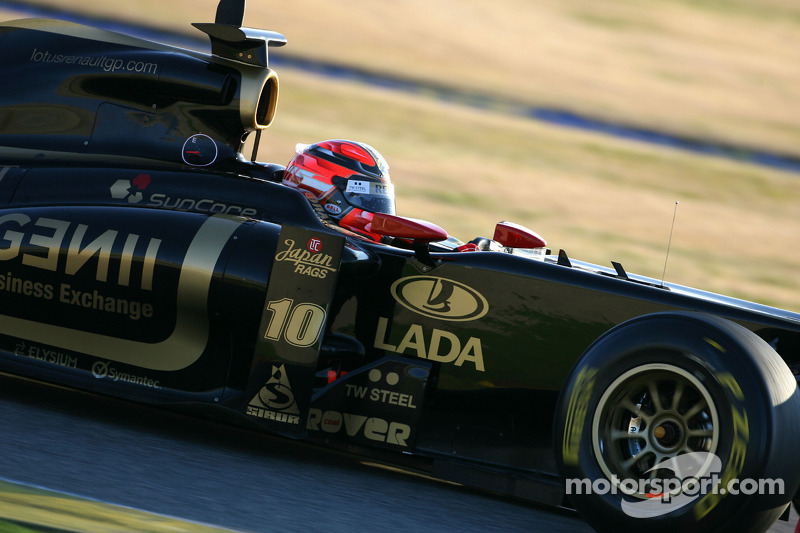 robert kubica lotus renault gp test valence en f vrier photos formule 1. Black Bedroom Furniture Sets. Home Design Ideas