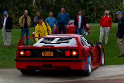 A Ferrari F40 has a bit of trouble getting off the lawn