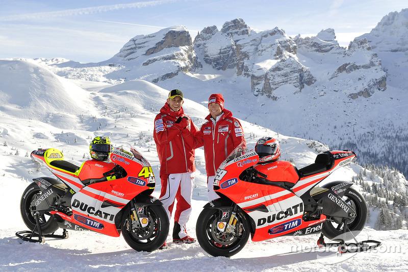2011: Valentino Rossi dan Nicky Hayden, Ducati