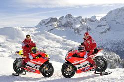 Valentino Rossi, Ducati, Nicky Hayden, Ducati at the Ducati Desmosedici GP11 presentation