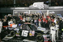 Victory lane: race winner Michael Waltrip, Toyota celebrates