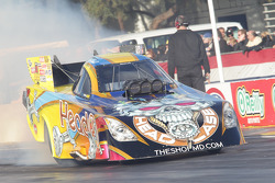 Jim Head doing his burnout in his Head Racing Toyota Camry