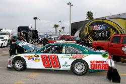 The backup car of Dale Earnhardt Jr., Hendrick Motorsports Chevrolet is at tech inspection