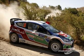 Mikko Hirvonen and Jarmo Lehtinen, Ford Fiesta RS WRC, BP Ford Abu Dhabi World Rally Team