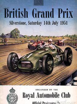 Poster del Gran Premio Británico de 1951
