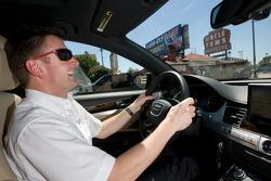 Go Green Auto Rally event in Miami: Allan McNish drives in the Go Green Auto Rally