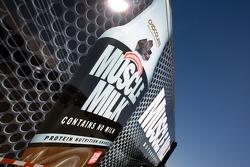 Muscle Milk Aston Martin Racing transporter