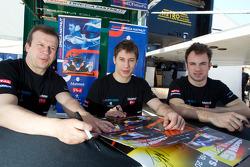 Olivier Panis, Loic Duval and Nicolas Lapierre