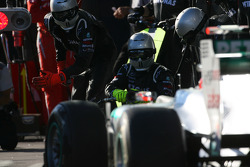 Michael Schumacher, Mercedes GP Petronas F1 Team pit stop