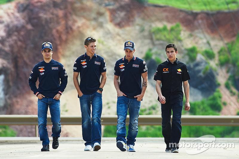 Dani Pedrosa, Casey Stoner, Andrea Dovizioso and Marc Marquez