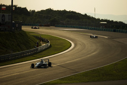 Matthew Parry, Koiranen GP, leads Antonio Fuoco, Trident and Jake Dennis, Arden International