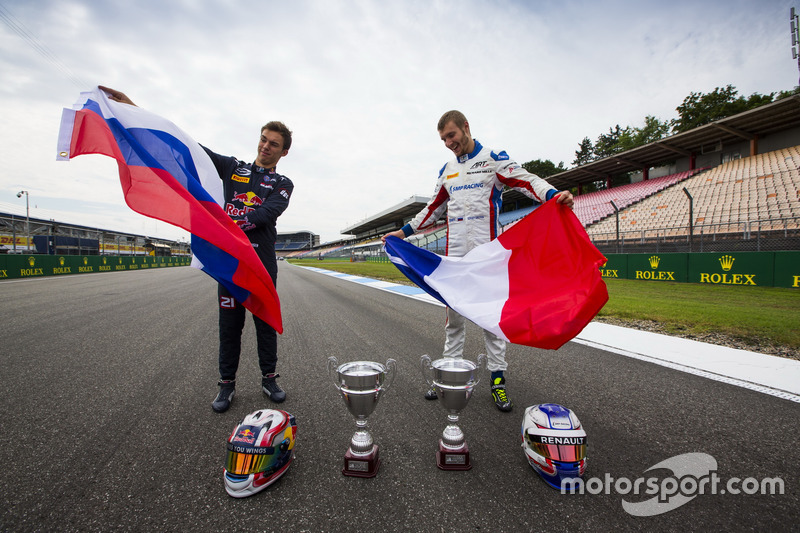 Pierre Gasly, PREMA Racing et Sergey Sirotkin, ART Grand Prix