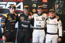 Top 4 en la clasificación: Pole position #86 AMG-Team HTP Motorsport, Mercedes-AMG GT3: Maximilian Götz; segundo lugar #85 HTP Motorsport, Mercedes-AMG GT3: Clemens Schmid; tercer lugar #88 AMG-Team AKKA ASP, Mercedes-AMG GT3: Felix Rosenqvist, cuarto pues