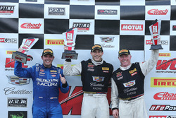 GT podium: Michael Cooper, Cadillac Racing, second place Ryan Eversley, RealTime Racing, Johnny O'Connell, Cadillac Racing