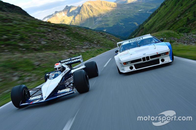 Nelson Piquet Jr. conduce el Brabham BMW F1 que manejó su padre