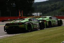#16 GRT Grasser Racing Team, Lamborghini Huracan GT3: Rolf Ineichen, Jeroen Bleekemolen, Mirko Bortolotti; #19 GRT Grasser Racing Team, Lamborghini Huracan GT3: Michele Beretta, Andrea Piccini, Luca Stolz