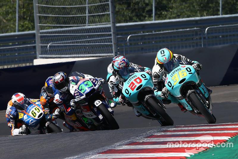 Joan Mir, Leopard Racing, KTM; Fabio Quartararo, Leopard Racing, KTM