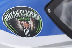 Aufkleber zur Erinnerung an Bryan Clauson