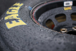Rain on Goodyear tire