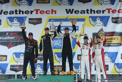 ST Class Podium: first place Chad Gilsinger, Ryan Eversley, HART, second place Jeff Mosing, Eric Foss, Murillo Racing
