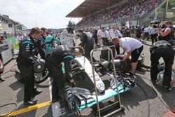 Нико Росберг, Mercedes AMG F1 W07 Hybrid на стартовой решетке