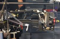 Híbrido de Mercedes AMG F1 W07, caja de cambios y suspensión