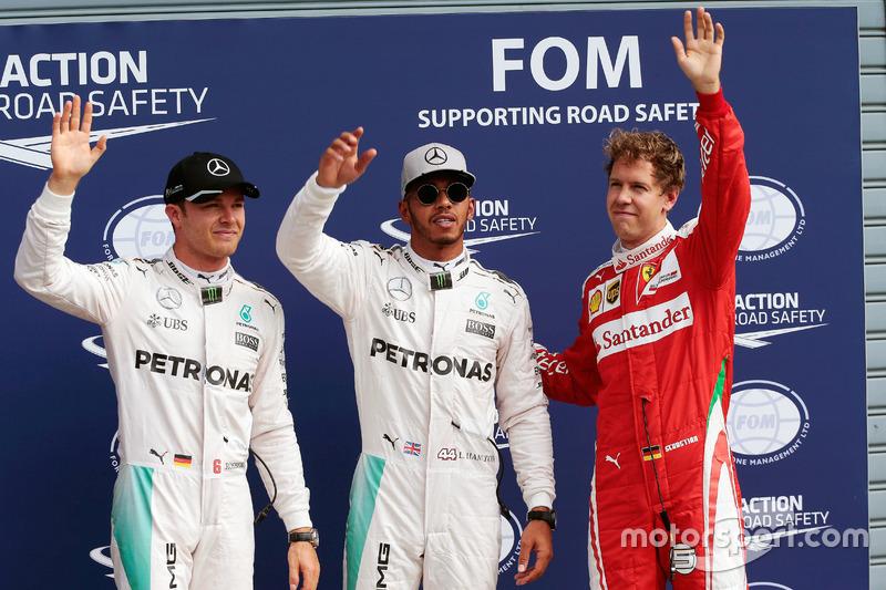 Poles: 12 - Lewis Hamilton; 8 - Nico Rosberg; 1 - Daniel Ricciardo