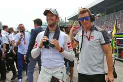Romain Grosjean, Haas F1 Team on the grid