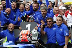 Race winner Maverick Viñales, Team Suzuki MotoGP