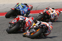 Dani Pedrosa, Repsol Honda Team; Andrea Dovizioso, Ducati Team; Marc Marquez, Repsol Honda Team