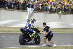 Second place Valentino Rossi, Yamaha Factory Racing, Mattia Pasini