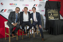 Federico Gonzalez Compean, General Director CIE, Adrian Fernandez, Rodrigo Sanchez, CIE Director of Marketing and Communications