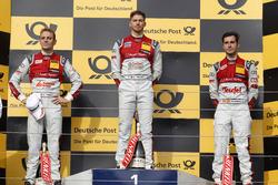 Podio: Ganador de la carrera Edoardo Mortara Audi Sport Team Abt Sportsline, Audi RS 5 DTM; segundo lugar Jamie Green Audi Sport Team Rosberg, Audi RS 5 DTM; tercer lugar Miguel Molina Audi Sport Team Abt Sportsline, Audi RS 5 DTM