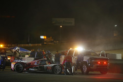 #70 Mazda Motorsports Mazda Prototype: Joel Miller, Tom Long, Spencer Pigot, on fire