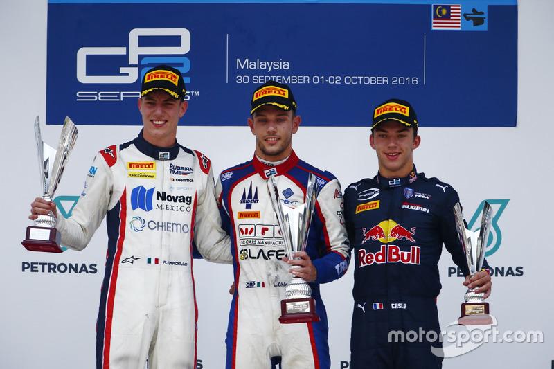 Luca Ghiotto, Trident Raffaele Marciello, RUSSIAN TIME et Pierre Gasly, PREMA Racing