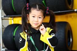 Ein junge Fan vom Renault Sport F1 Team